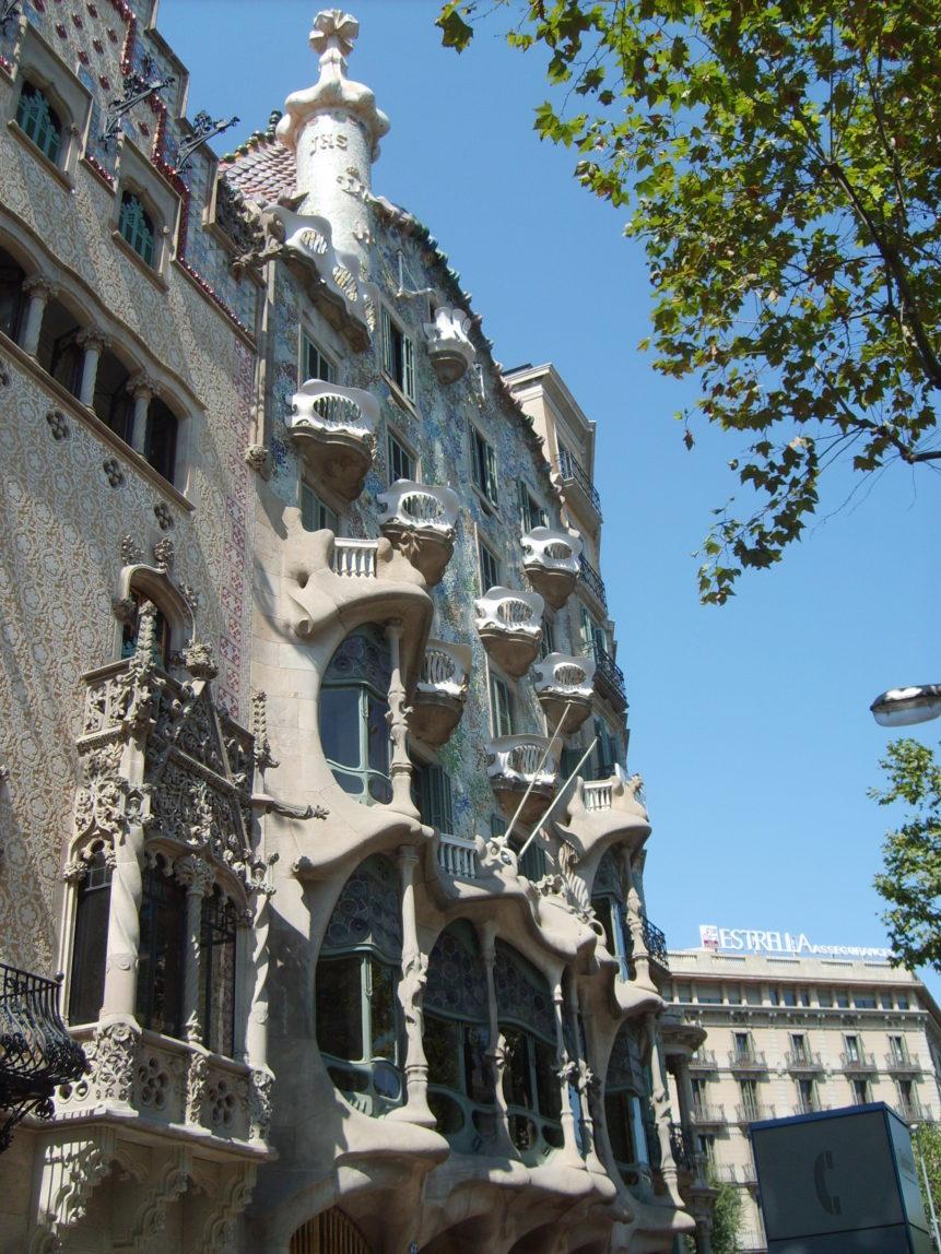 Free photo: Picture of Casa Batllo in Barcelona. By Antoni Gaudi.