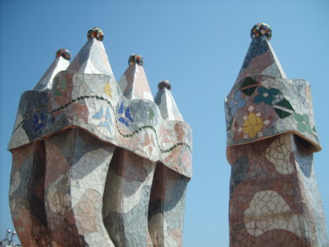 Chimney on Casa Mila in Barcelona