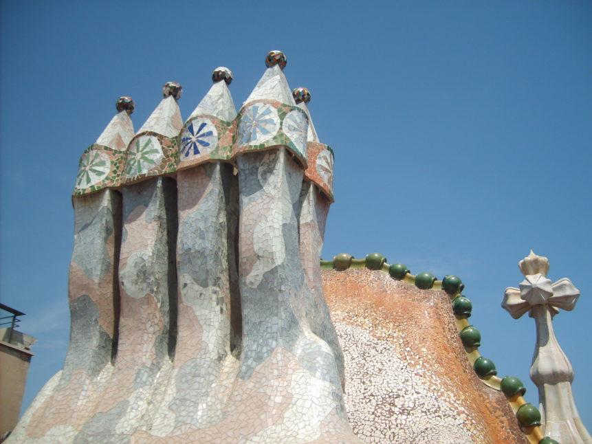 Free photo: Chimneys on Casa Mila in Barcelona