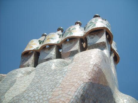 Chimneys on Casa Mila in Barcelona