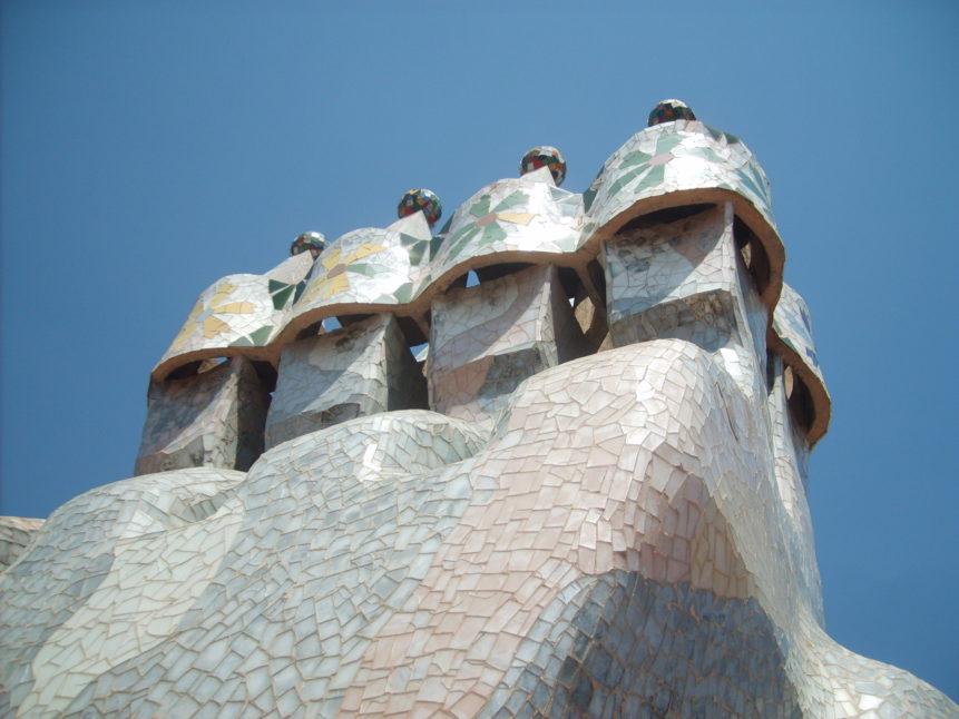 Free photo: Chimneys on Casa Mila in Barcelona