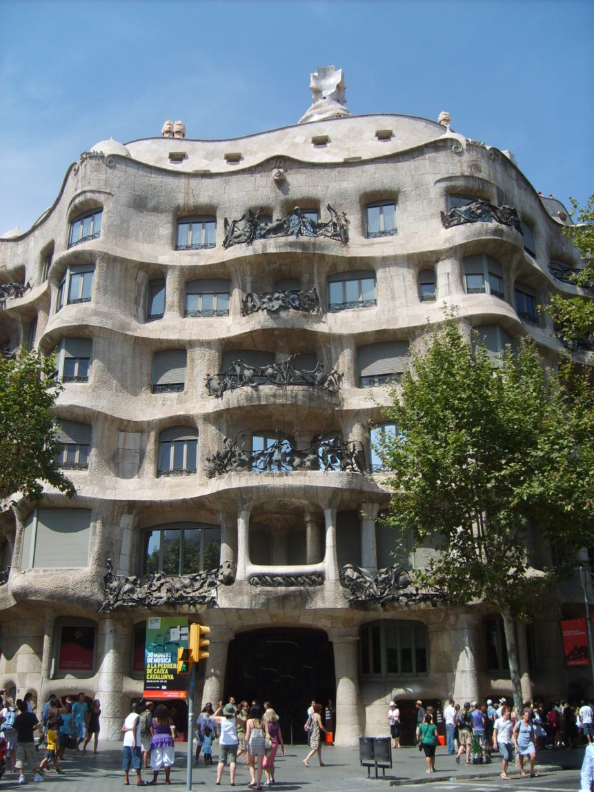 Free photo: Casa Milà by Antoni Gaudi, Barcelona