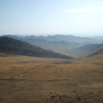 Mongolian steppe in autumn