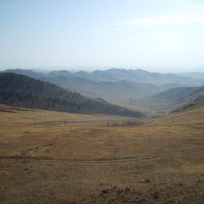 Mongolian landscape - steppe