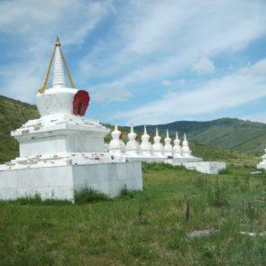 Buddhist stupa in Mongolia