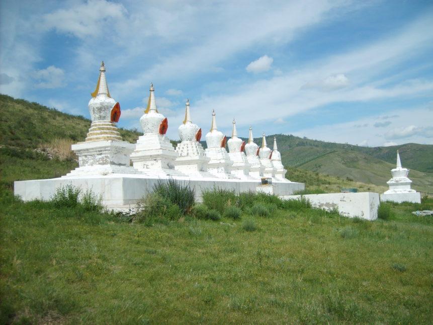 Free photo: Mongolian buddhist stupas in Amarbayasgalant monastery