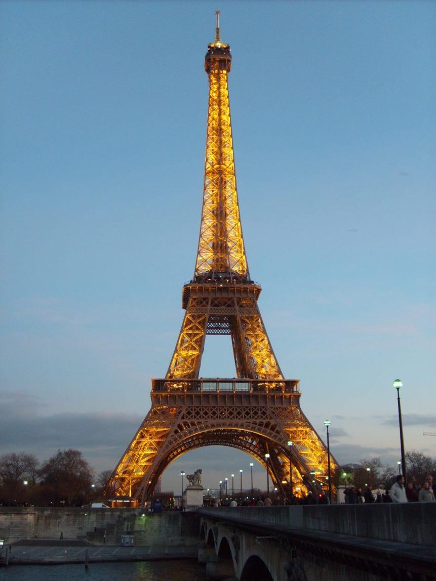 Free photo: Eiffel tower in Paris