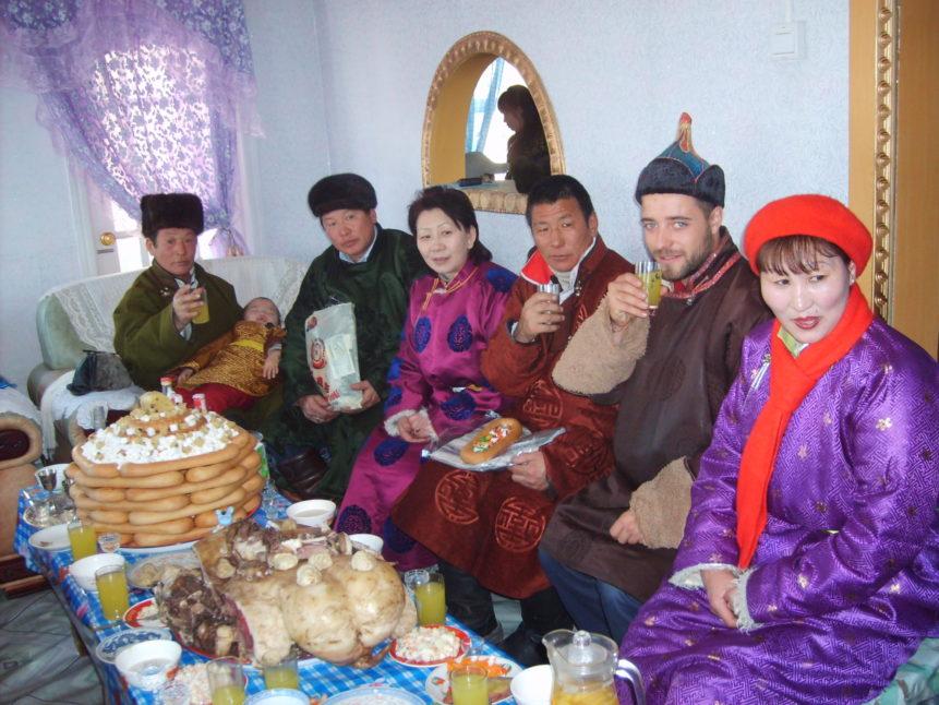 Free photo: Mongolians on Tsagaan sar