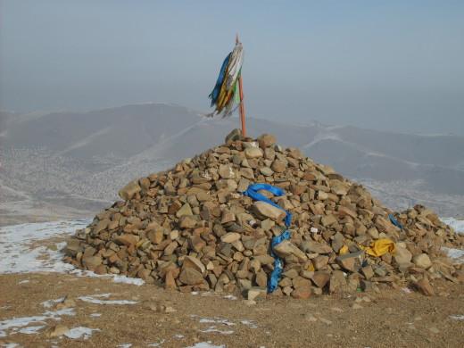 Mongolian sacred place - Ovoo