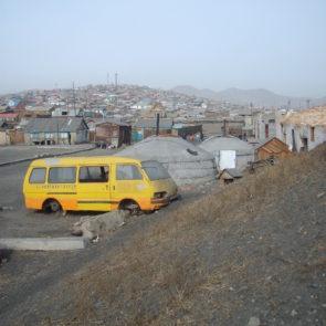 The suburb of Ulaanbaatar, Mongolia.