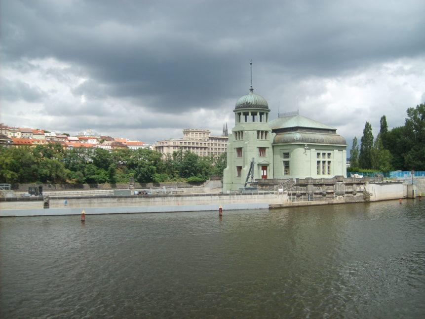 Free photo: Water Power Station at Štvanice, Prague