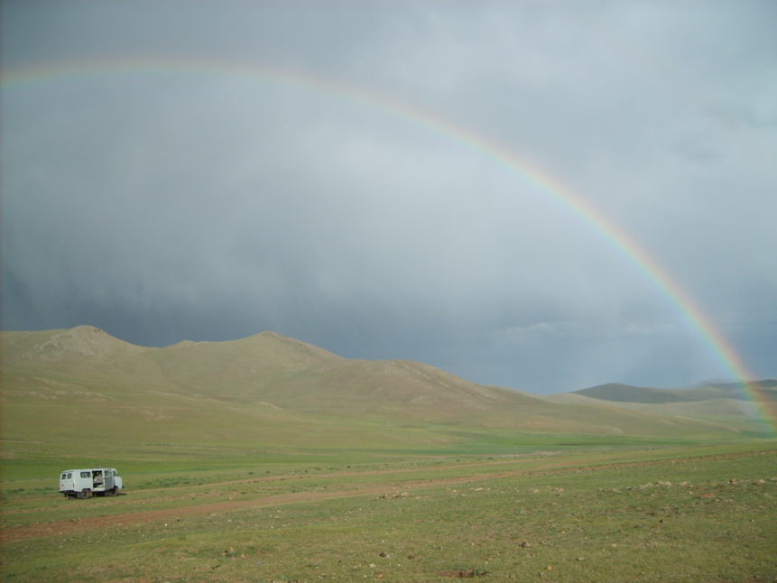 Free photo: Rainbow in Mongolia