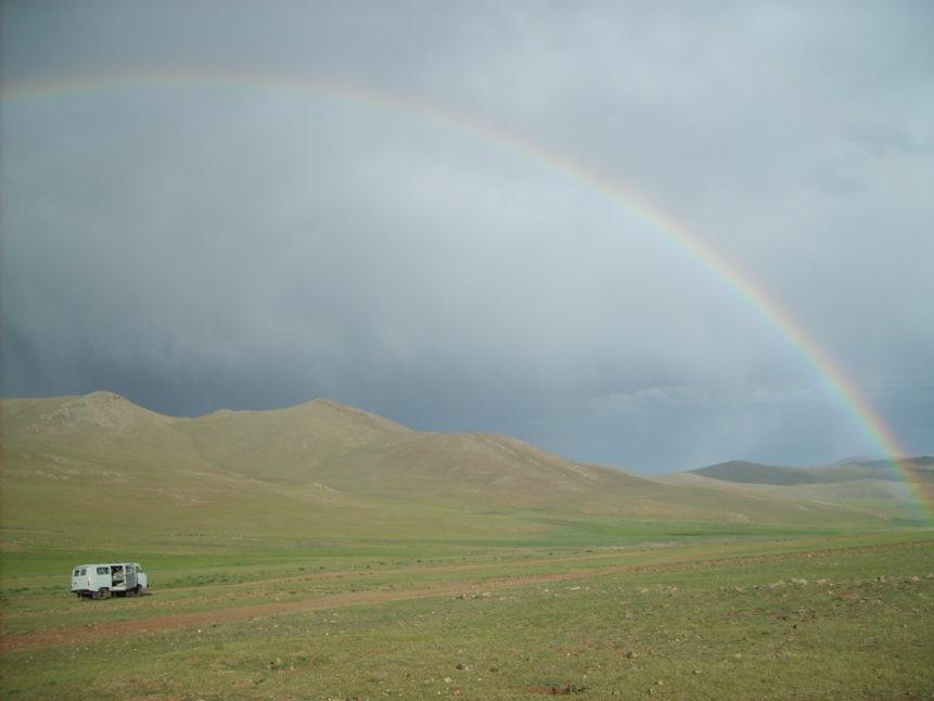 Free photo: Rainbow in Mongolia