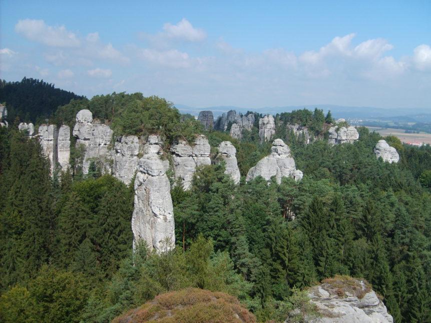 Free photo: Rock city in Czech Eden
