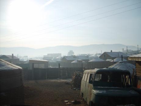 Yurt quarter in Ulaanbaatar