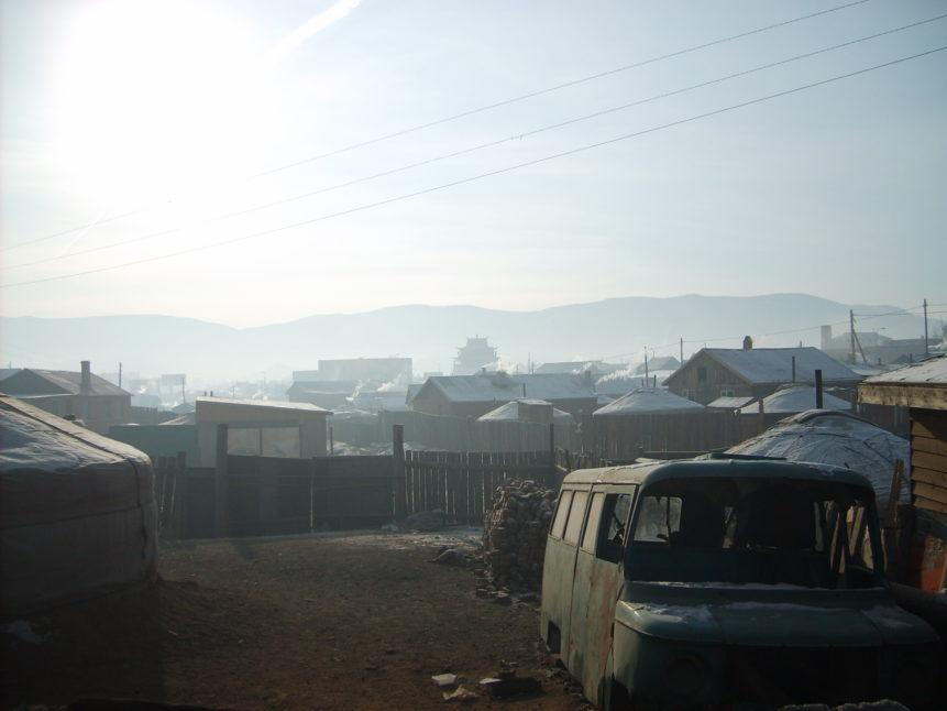 Free photo: Yurt quarter in Ulaanbaatar