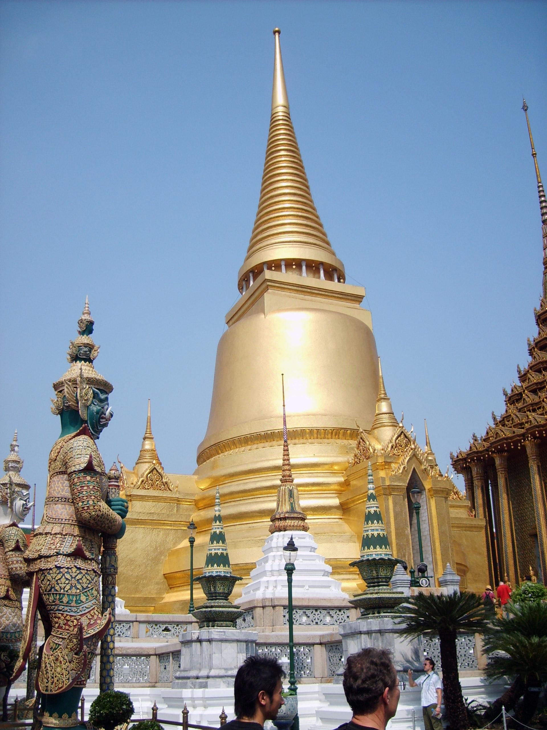 stupa in grand palace in bangkok free stock photos