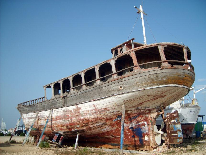 Free photo: Boat on dry land