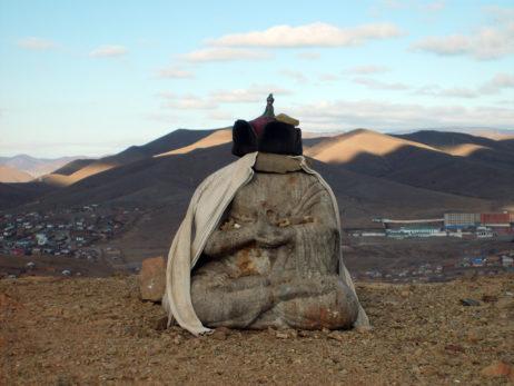 Small Buddha statue in Ulaanbaatar