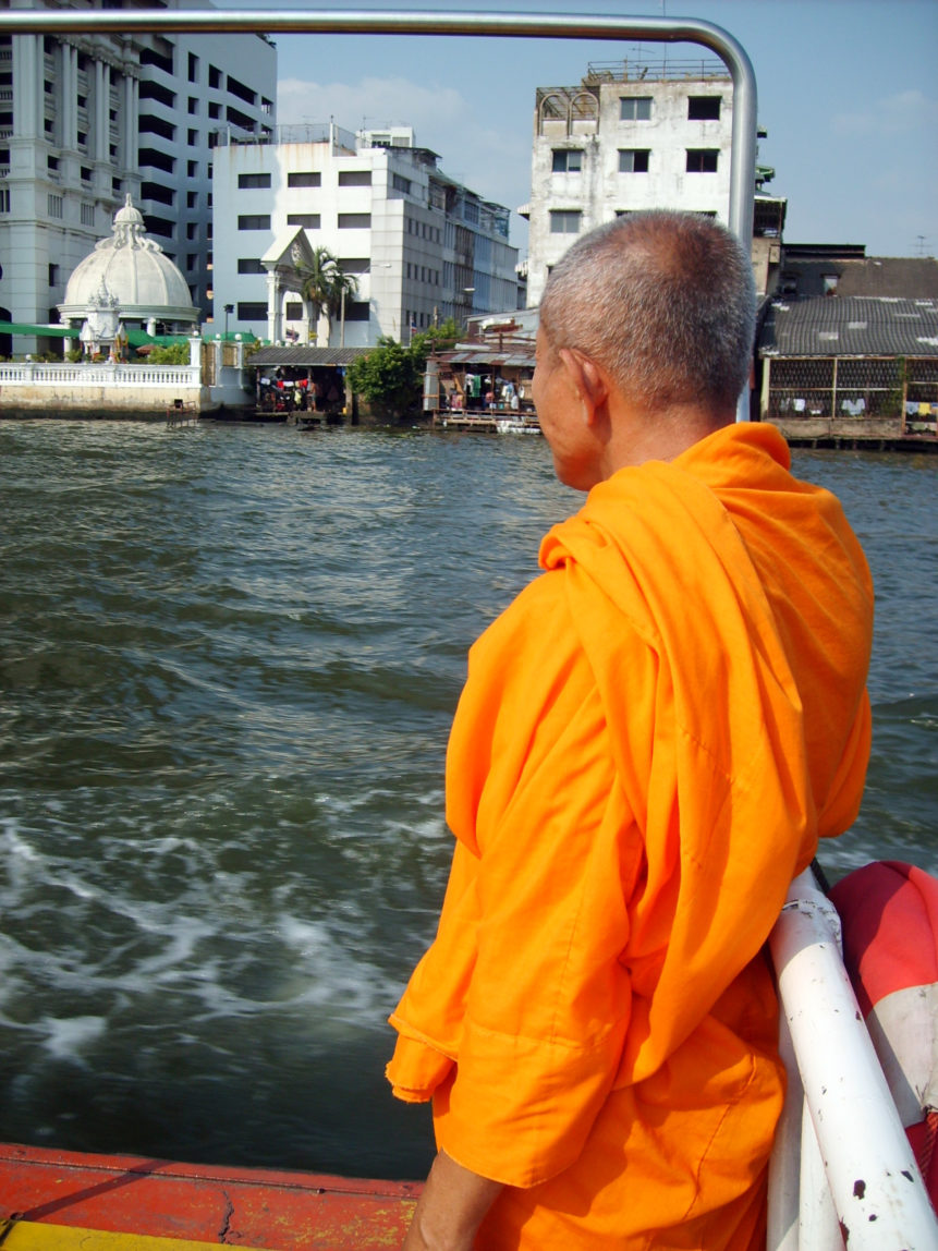 Free photo: Buddhist monk on ship