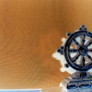 Buddhist wheel wallpaper