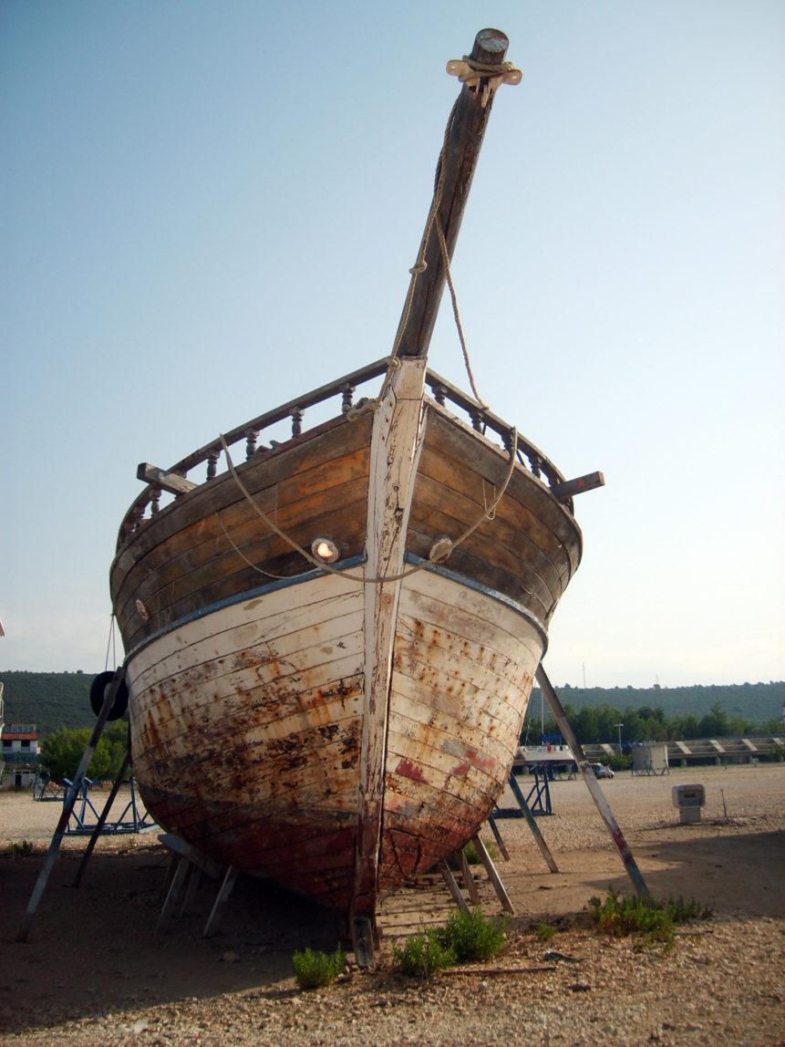 Free photo: Old ship in Croatia