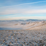 Frozen steppe in Mongolia