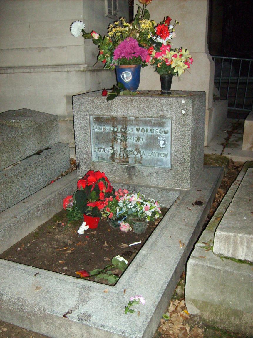 Free photo: Grave of Jim Morrison