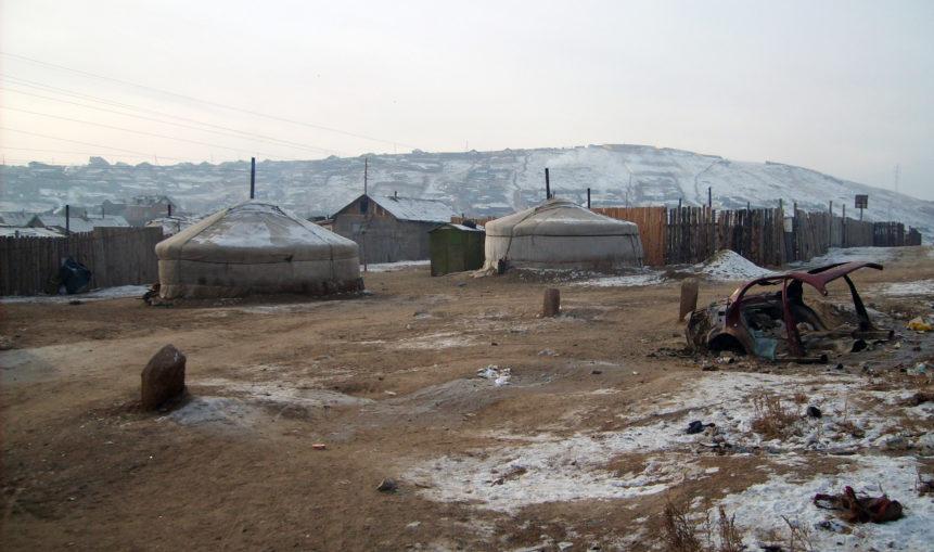 Free photo: Yurts in cemetery - Ulaanbaatar