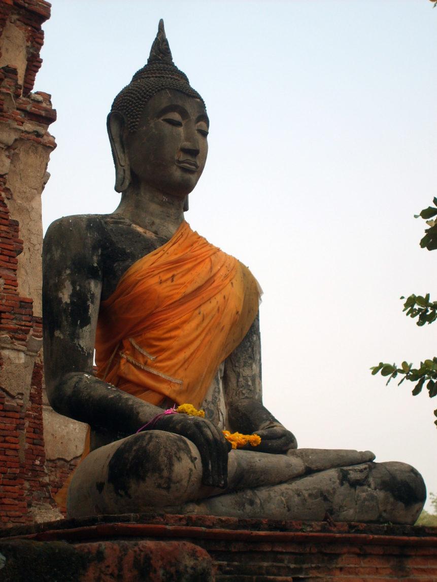 Free photo: Statue of Buddha in Ayutthaya