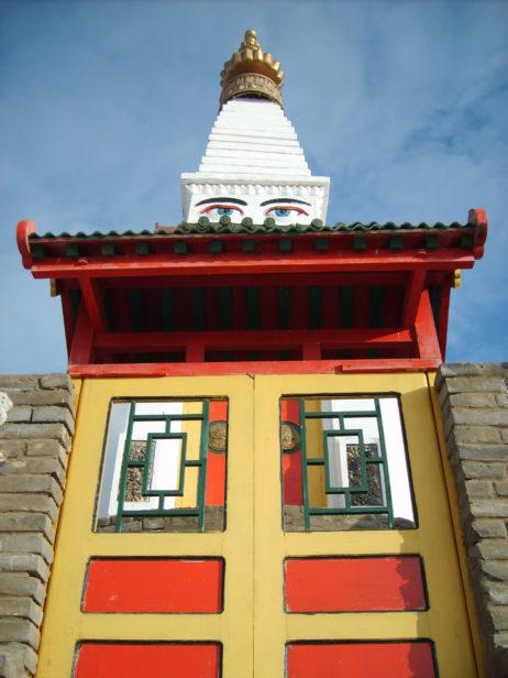 Stupa with eyes of bodhisattva Avalokitesvara