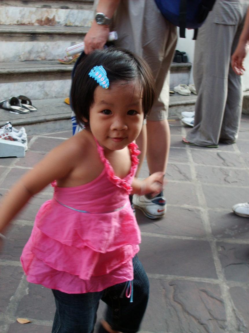Free photo: Baby girl in Bangkok