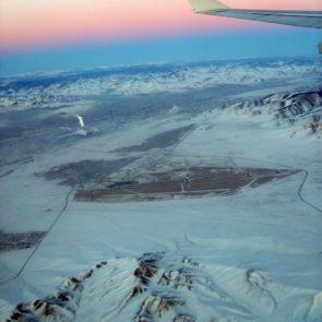 Ulaanbaatar from airplane