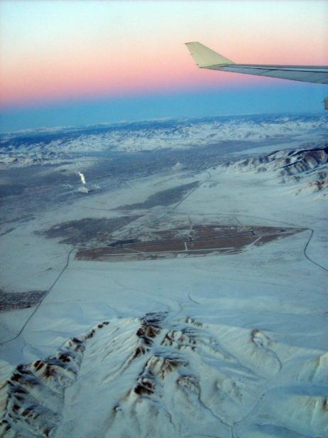 Ulaanbaatar from the aircraft
