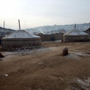 Yurts in cemetery of Ulaanbaatar