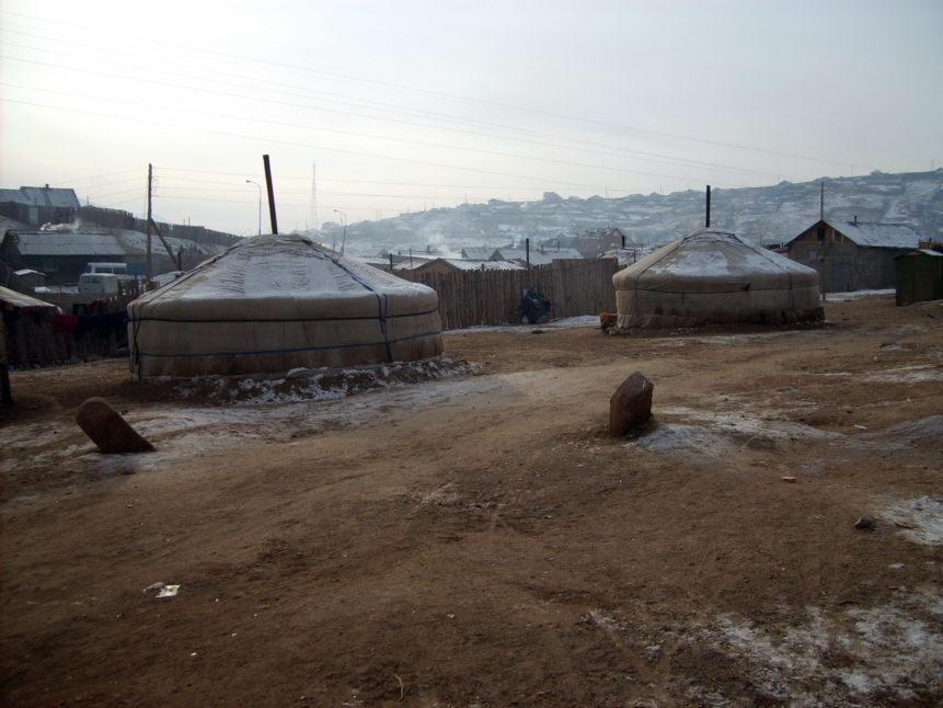Free photo: Yurts in cemetery of Ulaanbaatar