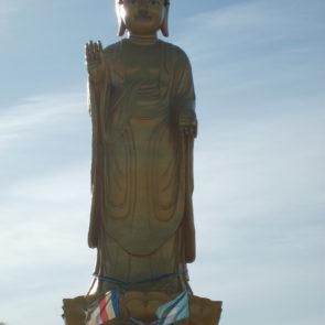 A large statue of Buddha in Ulaanbaatar