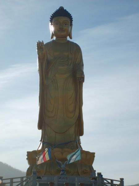Free photo: A large statue of Buddha in Ulaanbaatar