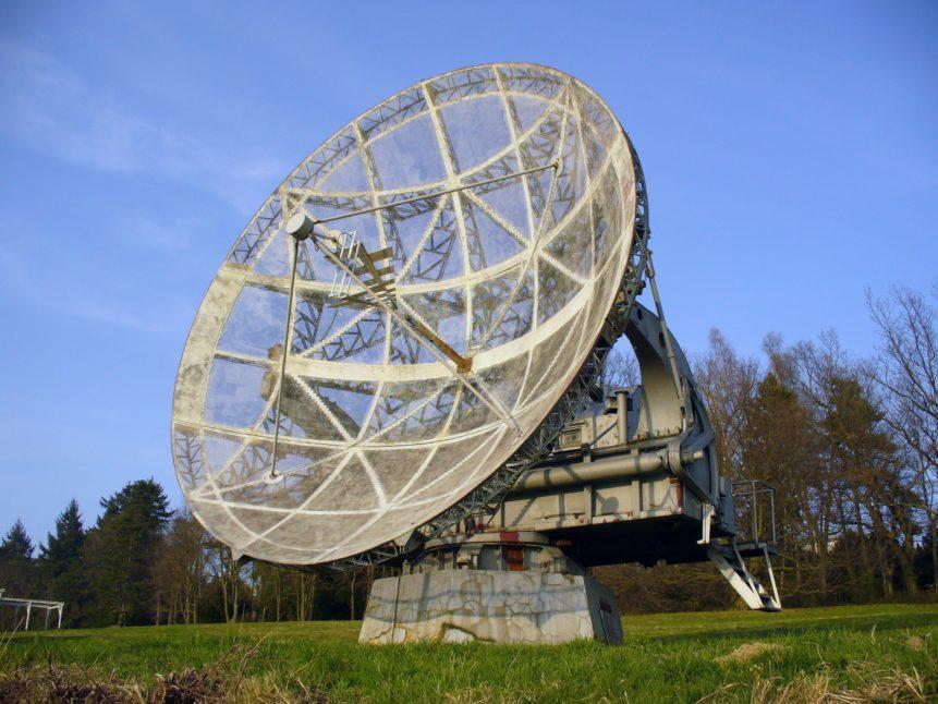 Free photo: Big radiotelescope