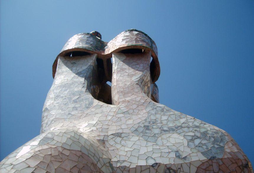 Free photo: Chimneys at Casa Batllo