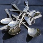 A pile of cutlery