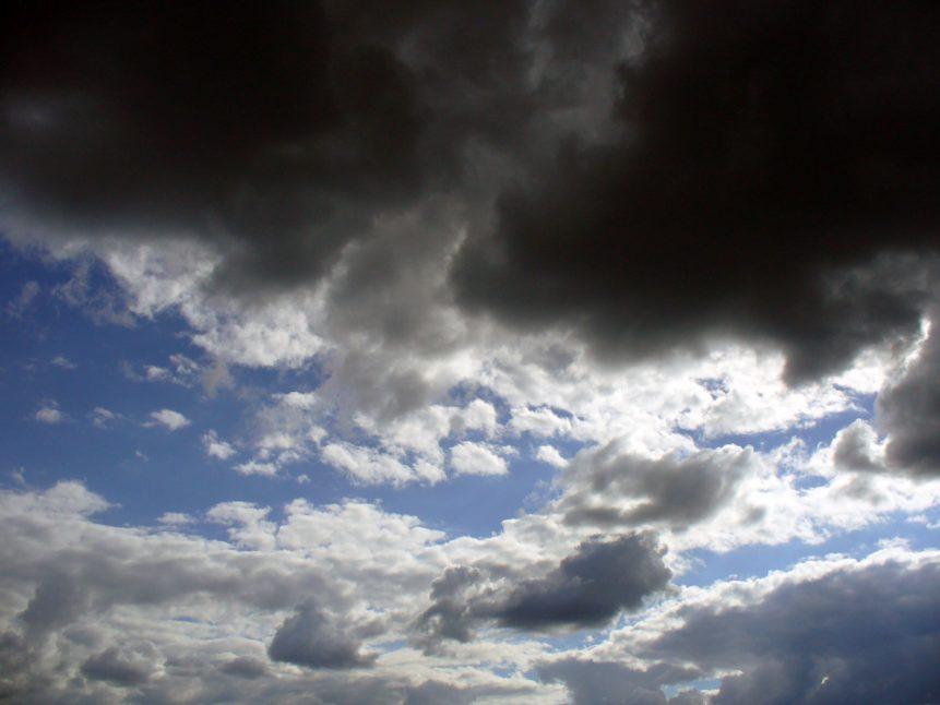 Free photo: Dark and white clouds