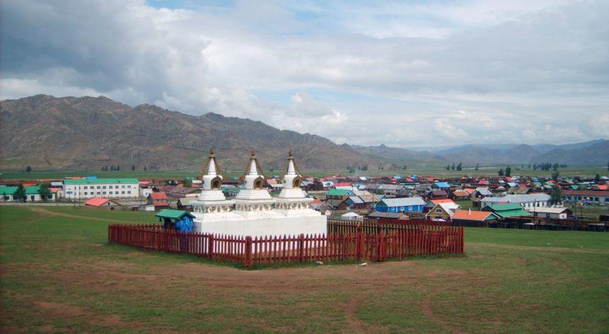 Free photo: Fenced stupas in Mongolia