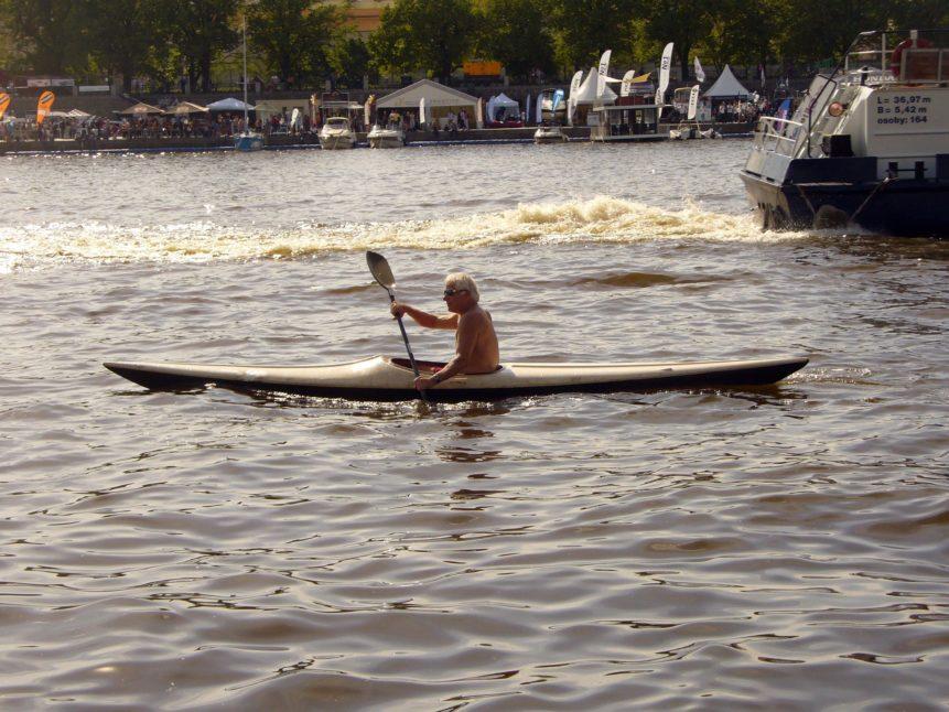 Free photo: Man on kayak