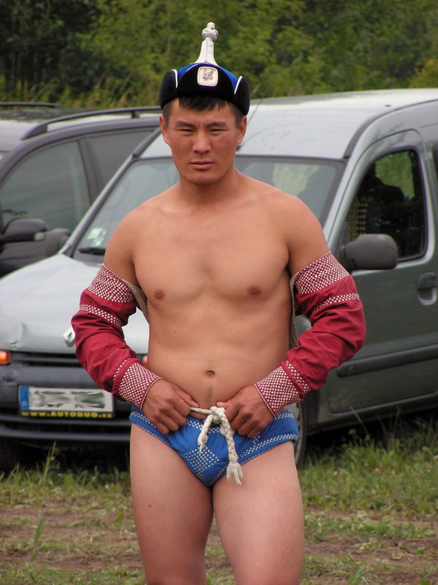 Free photo: Mongolian wrestler