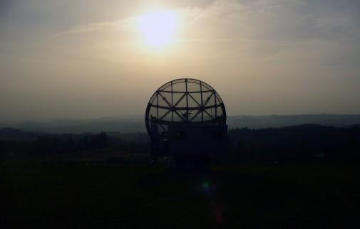 Free photo: Radio-telescope at night