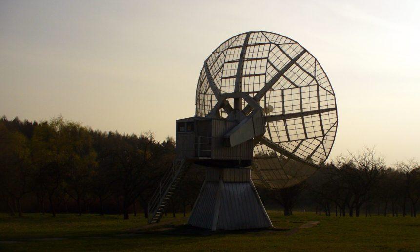 Free photo: Radio telescope at night