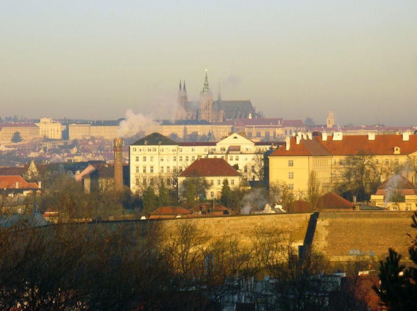 Free photo: Prague Castle in Smoke