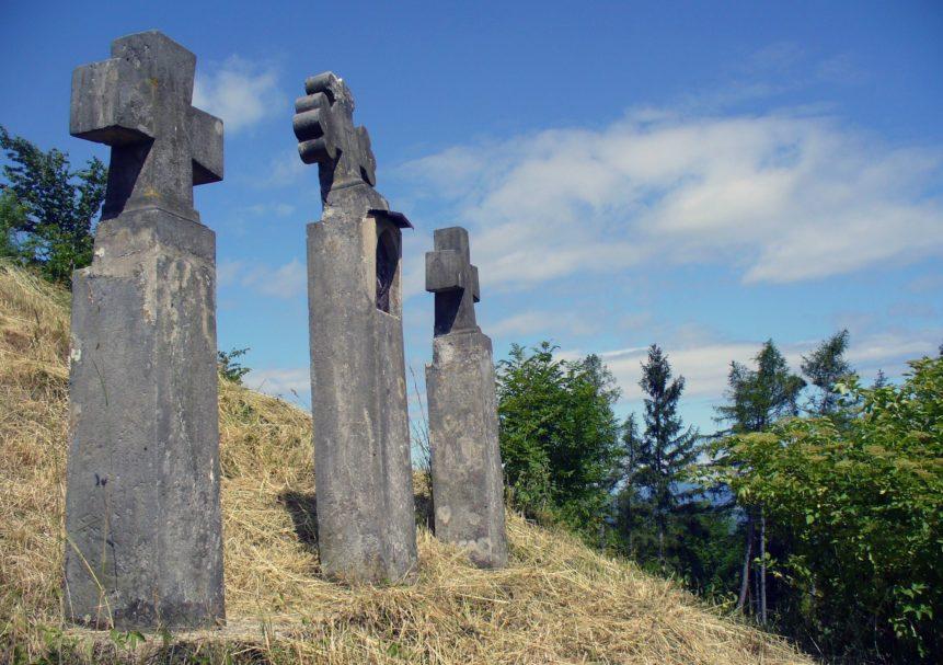 Free photo: Three Stone Crosses