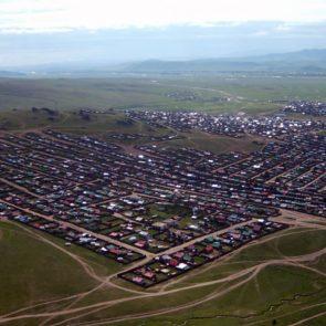 Tsetserleg City in Mongolia